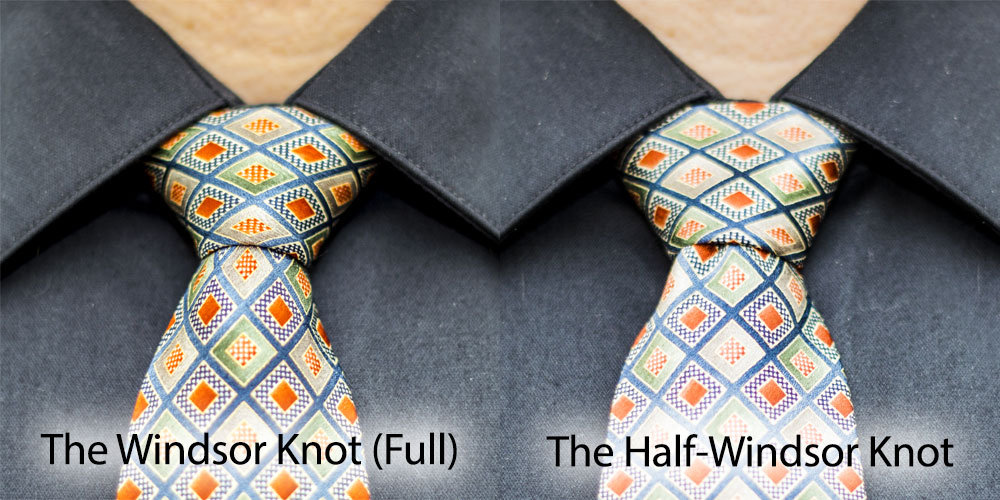 Comparison: Windsor vs. Half Windsor | Awesome Knot on